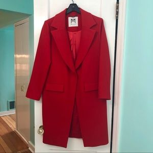 Stunning Red Wool Coat from Milly